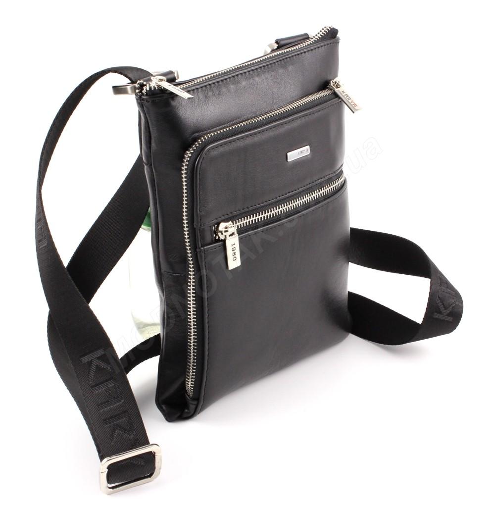fd1b2bb0c2cd Наплечная небольшая мужская сумка турецкого производства из натуральной  гладкой кожи Karya (10271)