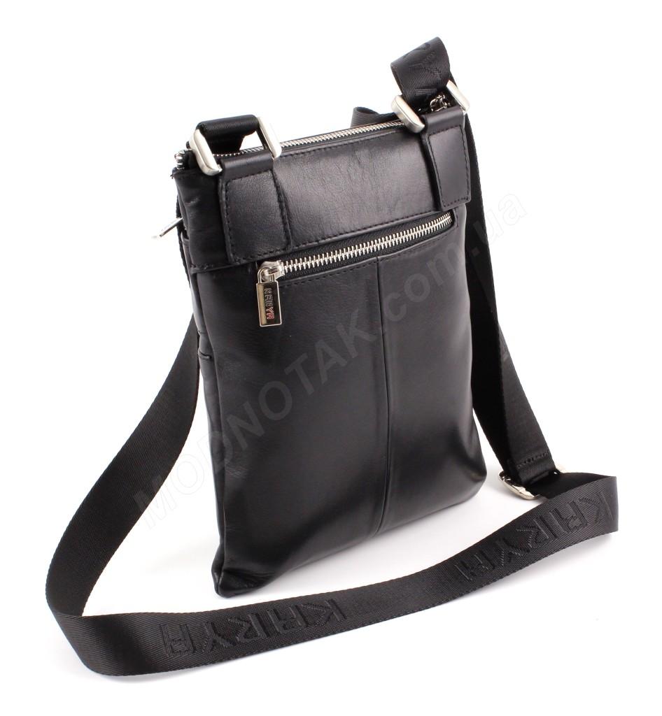 6bf29ba8612b ... Наплечная небольшая мужская сумка турецкого производства из натуральной  гладкой кожи Karya (10271) ...