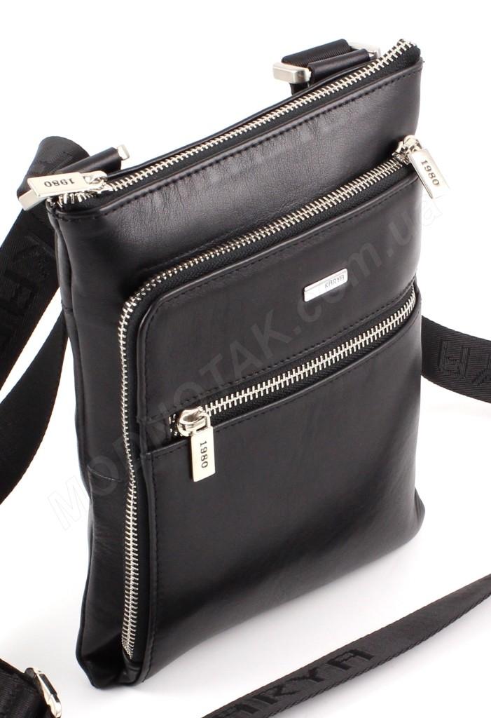 be5b1cd588b3 Наплечная небольшая мужская сумка турецкого производства из натуральной  гладкой кожи Karya (10271) ...