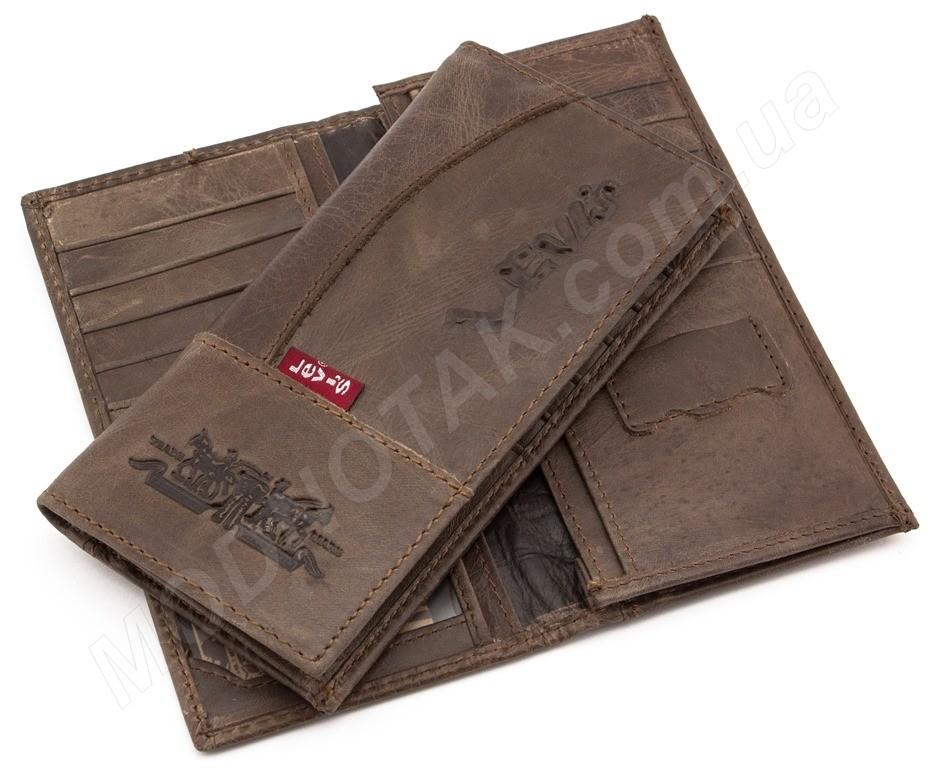 396acfa82ebb Недорогой мужской кожаный кошелек Levis коричневого цвета ...