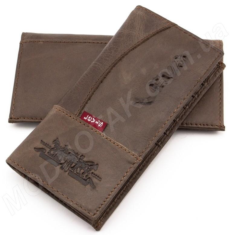 7b009e83636f Недорогой мужской кожаный кошелек Levis коричневого цвета ...