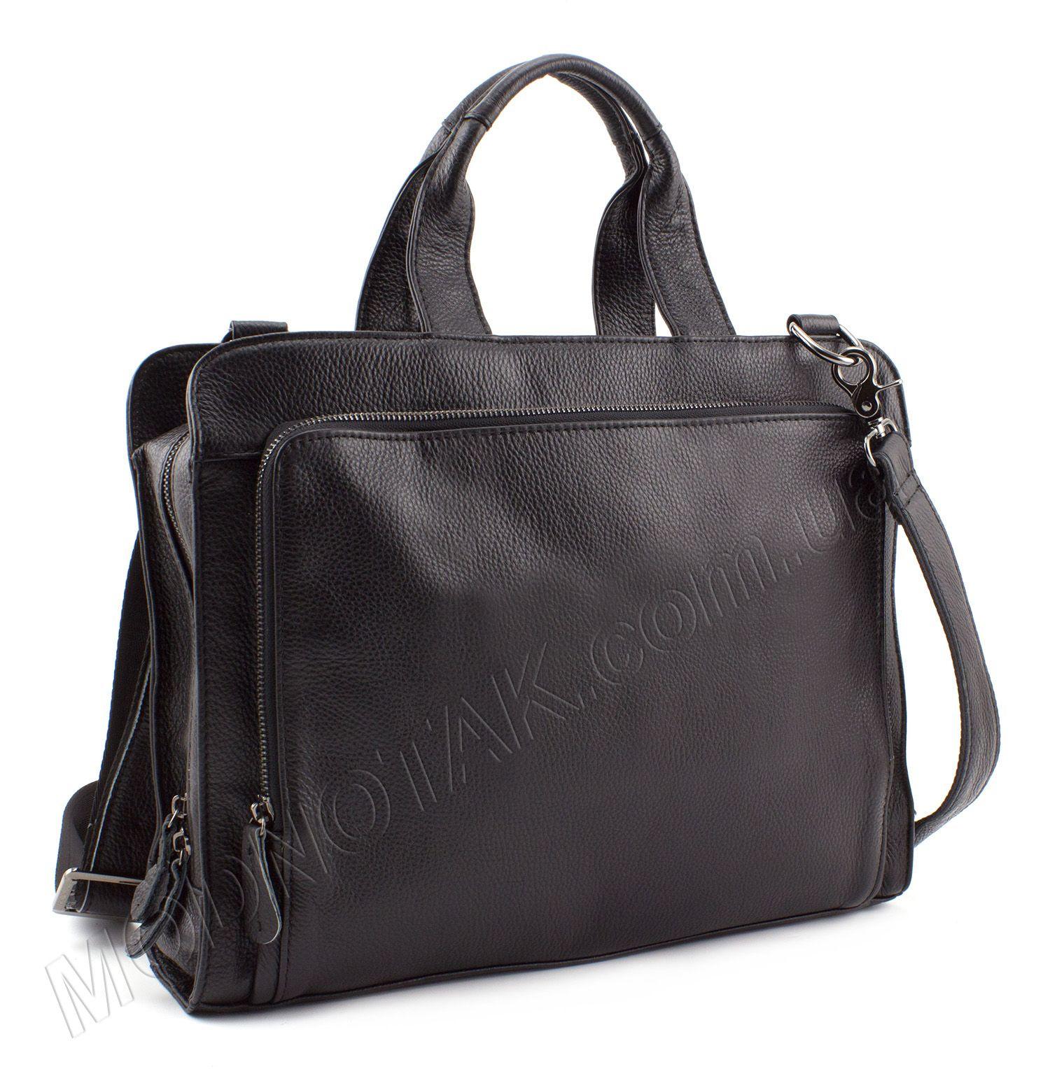 2bfb2344b13b Деловая кожаная сумка для документов и Macbook air 13 - KLEVENT (10126)