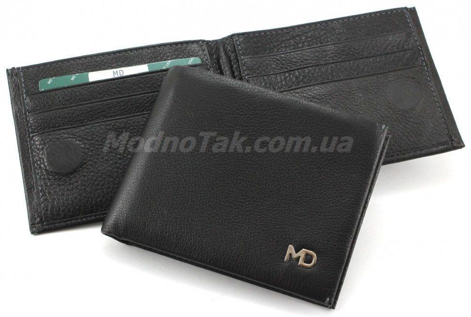 84147d96dece Маленький кожаный мужской кошелек на магнитах с зажимом для денег MD  Leather Collection (18105)