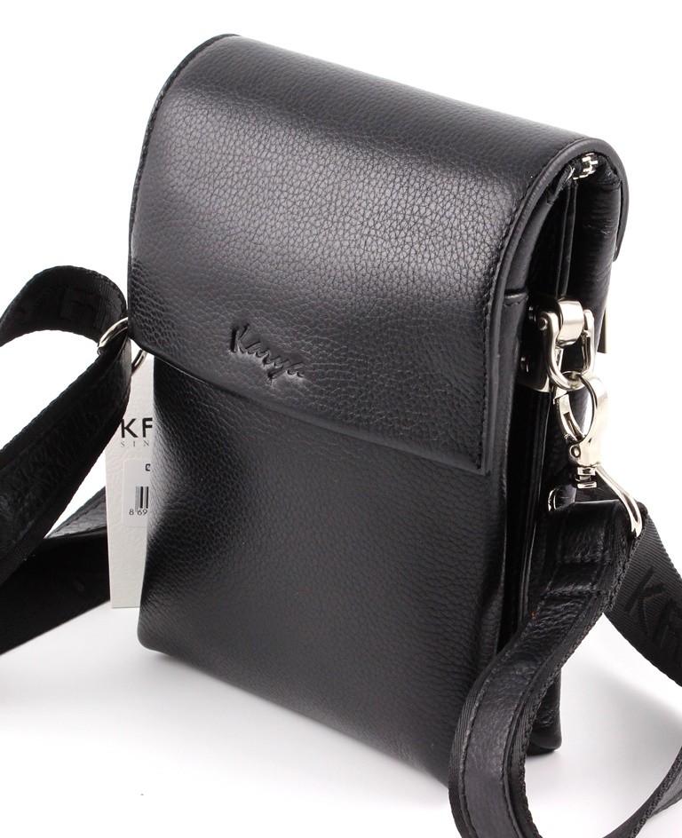 Маленькая мужская кожаная сумочка для ключей, кошелька, телефона Karya  (Турция) (10274 ... b8e63e06391