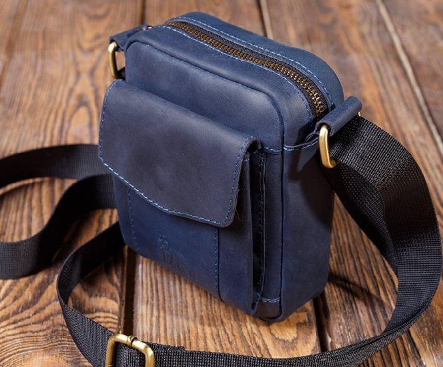 298e82bb966f Кожаная мужская сумка через плечо - мужские сумки из натуральной ...