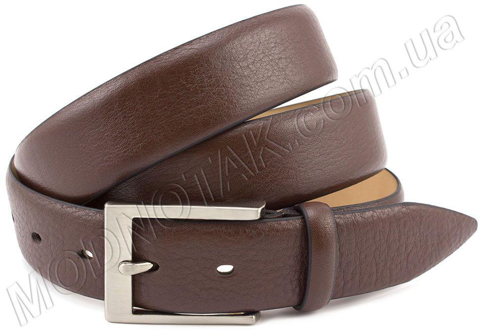 6b35bfc179e5 Мужской брючный ремень из кожи оленя ST Italian Style: купить коричневый  ремень под ...