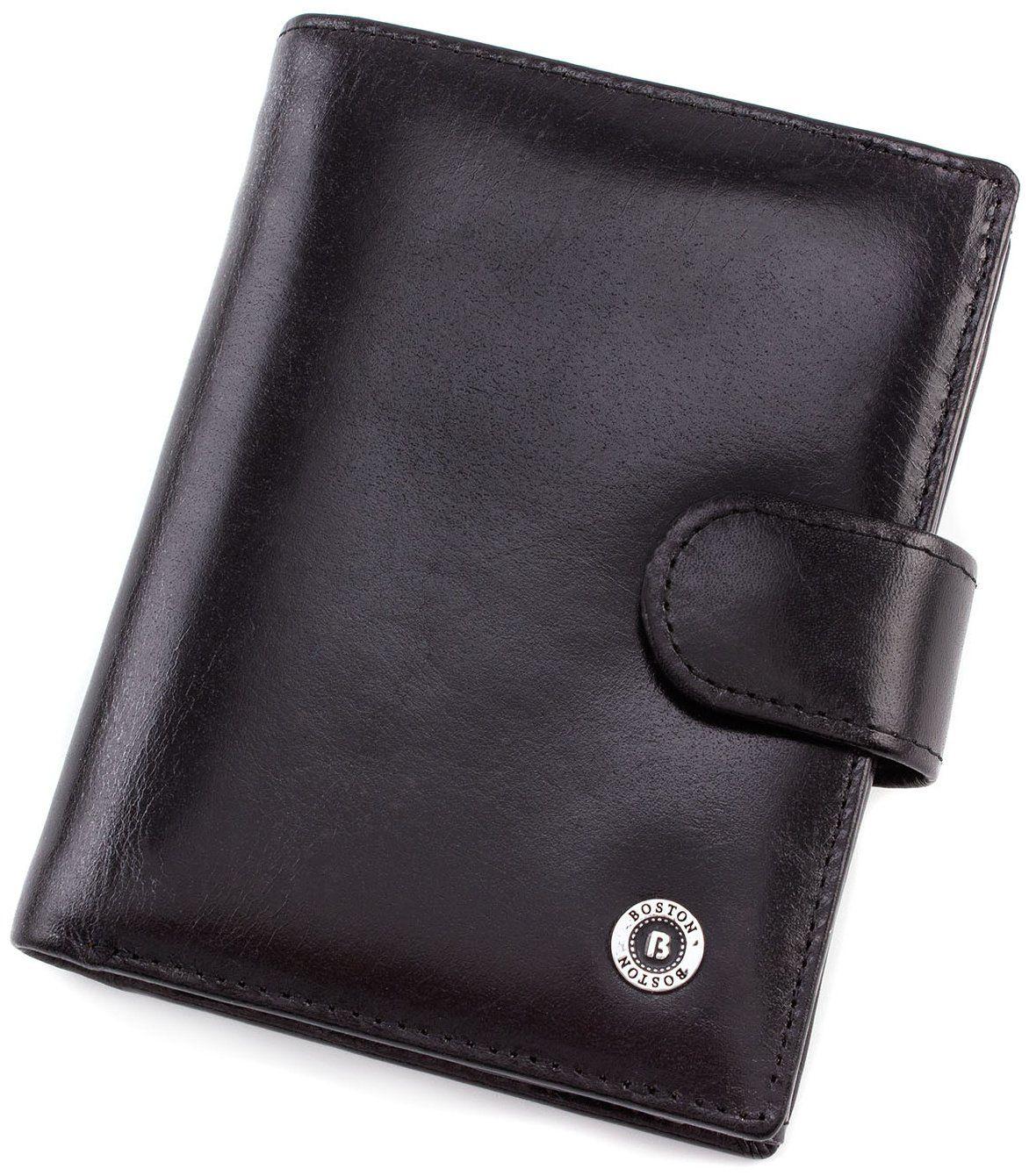 780f5b43d517 Мужской вертикальный кошелек из гладкой кожи BOSTON (16713) купить в ...