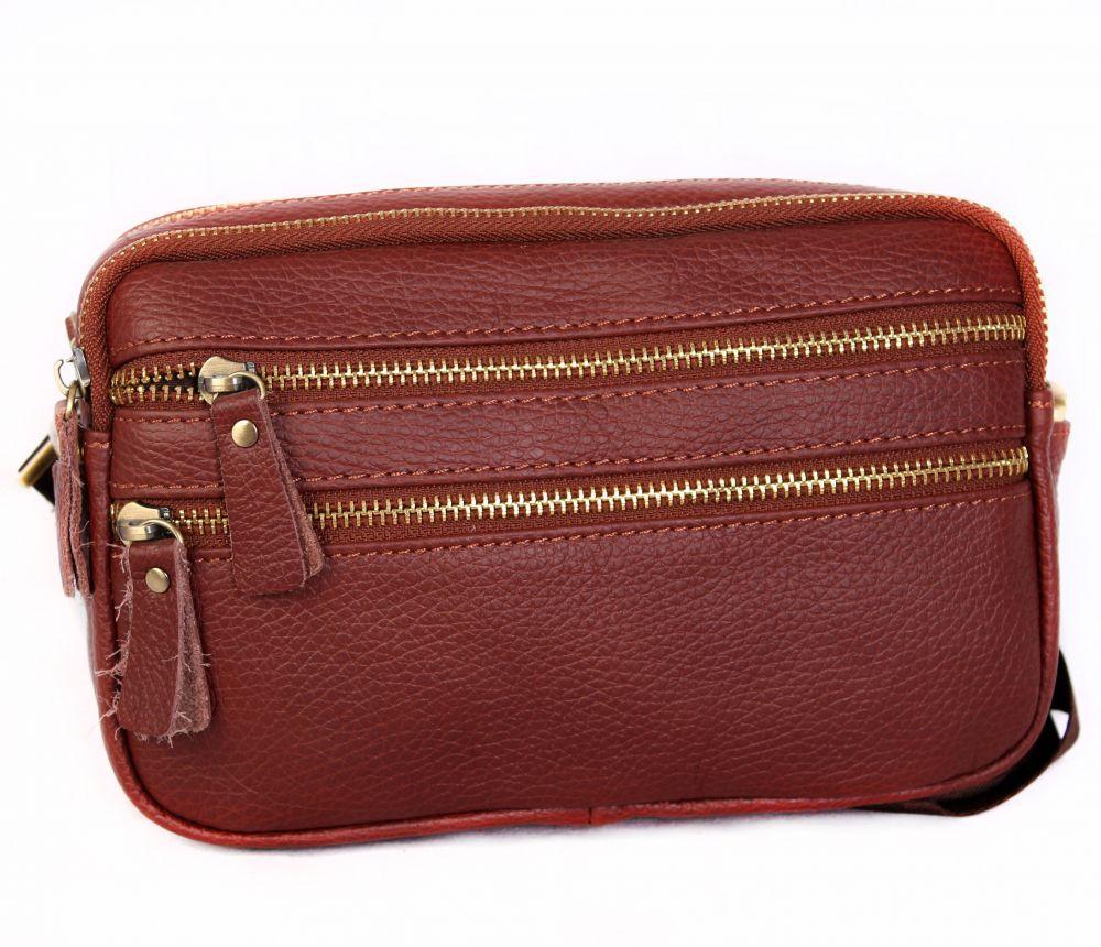 380044b35de0 Коричневая мужская кожаная сумка для личных вещей Leather Bag Collection  (0-0045)