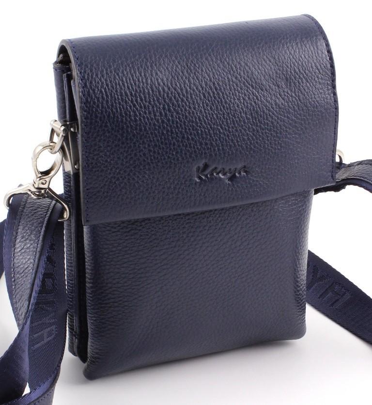 Кожаная мужская маленькая сумка синего цвета Karya (Турция) (10275) ... c2e8e8ef1ee