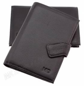e97f26bc5b26 Кожаный мужской бумажник на застежке магните MD Leather Collection (18248)  ...