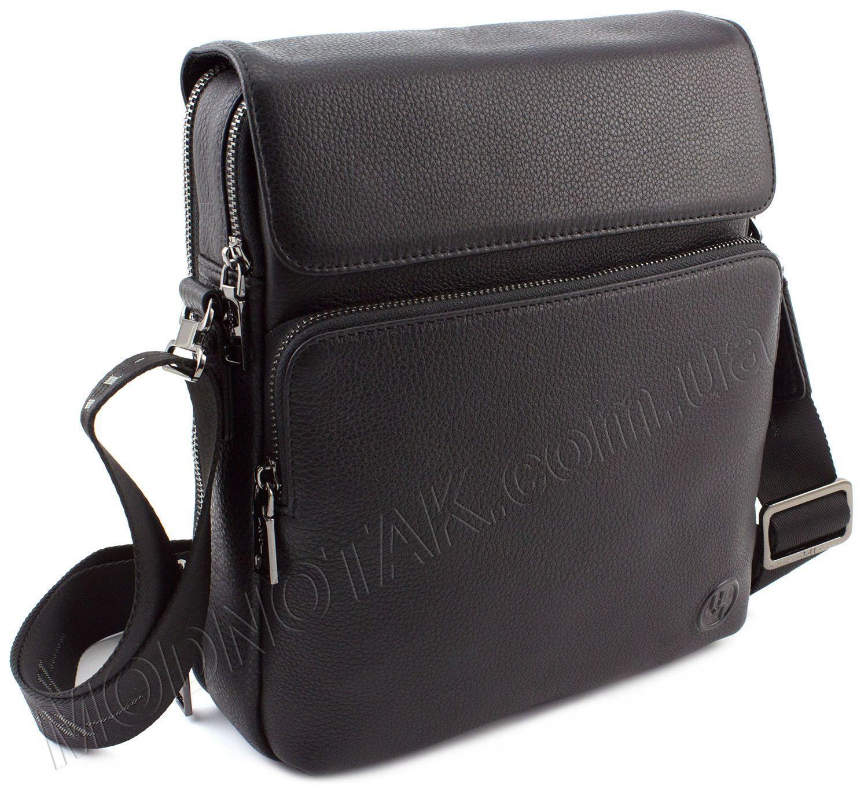 c7b9d4af6cc4 Наплечная мужская кожаная сумка на два отделения HT Leather: купить ...