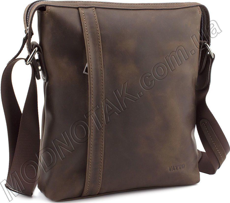 d023db8e2d9 Кожаная мужская сумка в стиле винтаж на плечо VATTO (11630) купить в ...