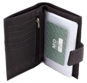2bb2cb430e09 ... Кожаное мужской портмоне с прозрачным вкладышем для автодокументов MD  Leather Collection (18249) - 2