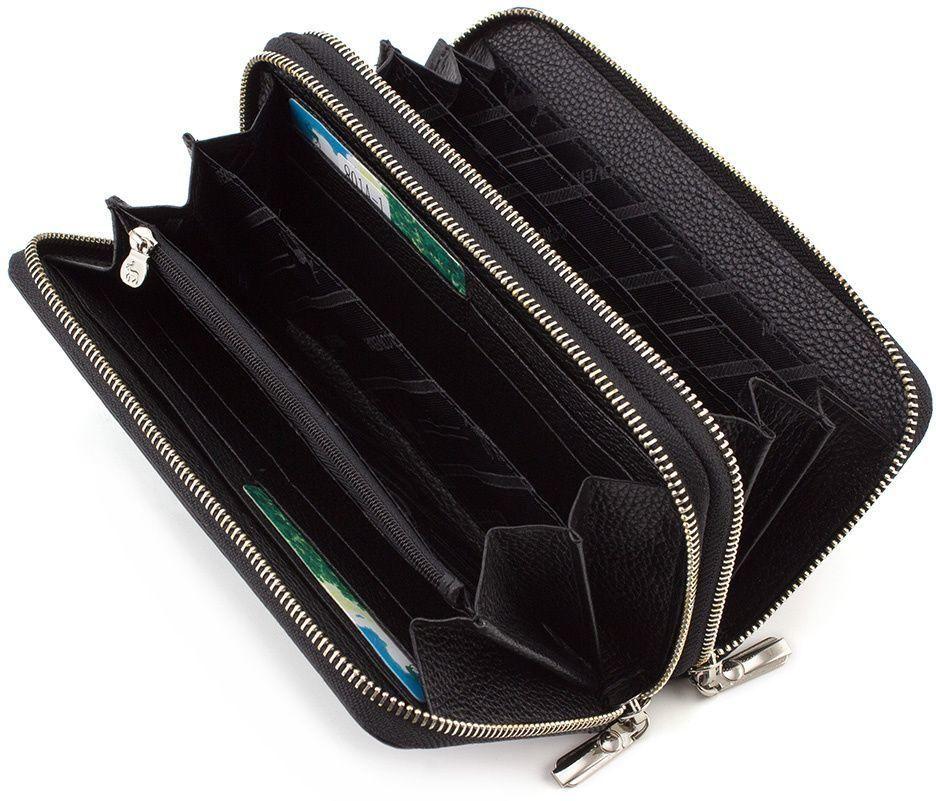 29717adf6914 Классический кожаный кошелек с двумя молниями Marco Coverna (17866 ...