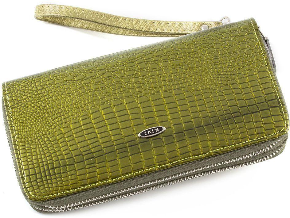 e288a3567771 Женский лаковый кошелек из кожзама на две молнии Kivi (17922) купить ...