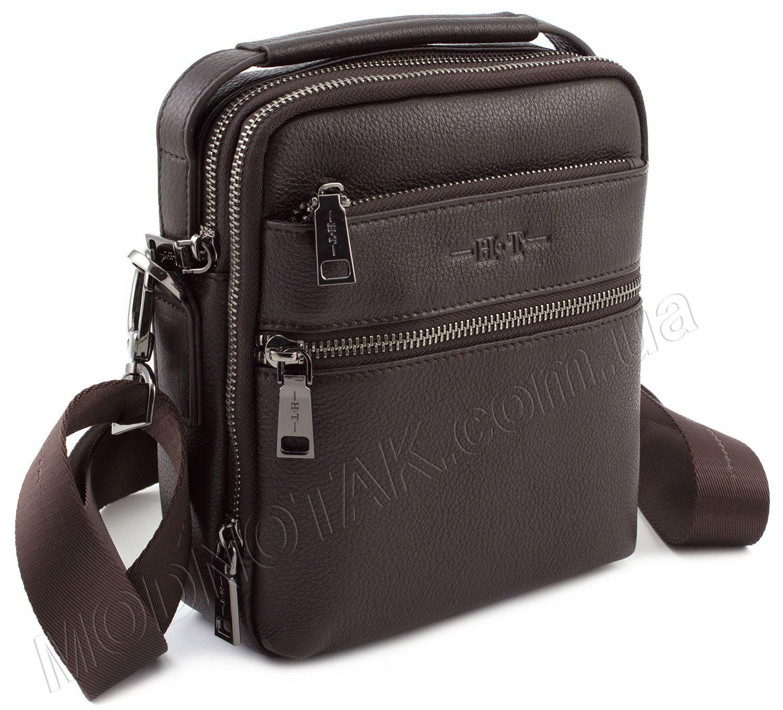 ee85bdc78a4b Небольших размеров сумка-барсетка из хорошей кожи H.T Leather 11505