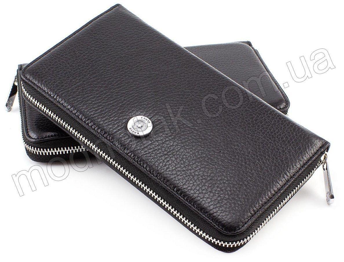 8da206a9ea0d Женский кожаный кошелек-клатч черного цвета KARYA (1118-45) купить в ...