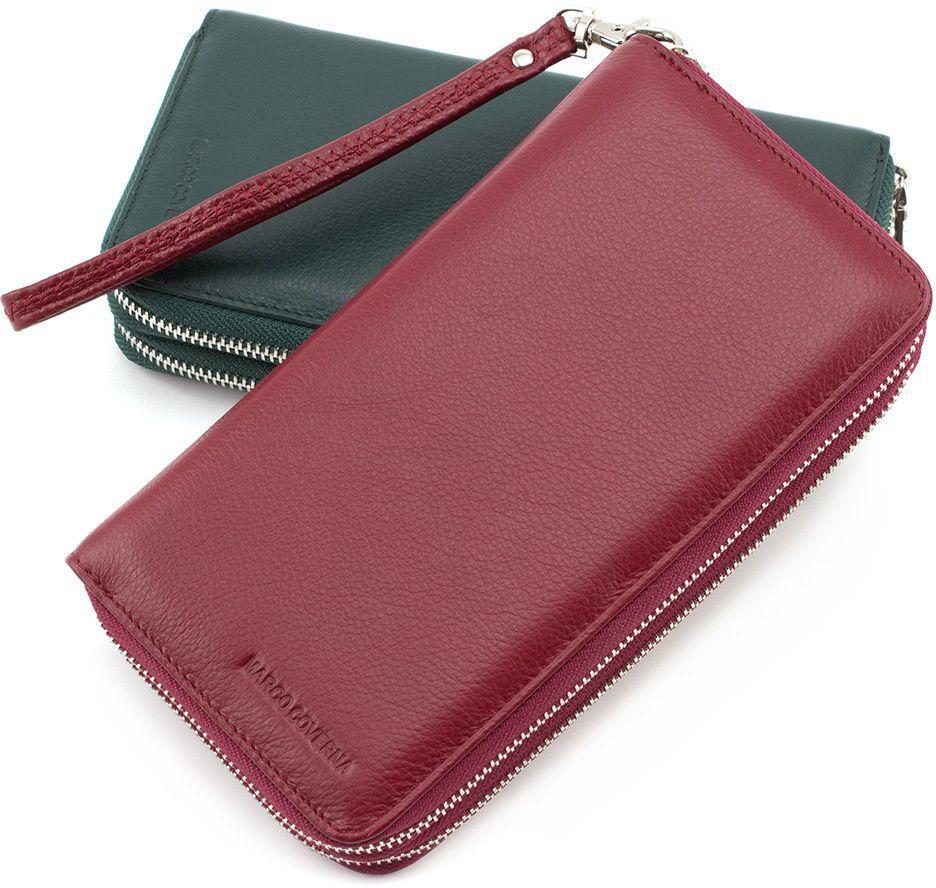 fdfbff72bf16 Женский кожаный кошелек на две молнии Marco Coverna (17860) купить в ...