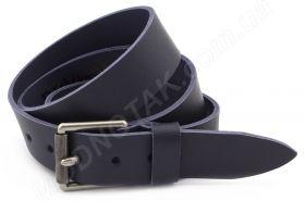Темно - синий джинсовый мужской ремень из натуральной цельной кожи Dovhani  (40503) 78b78983bf696