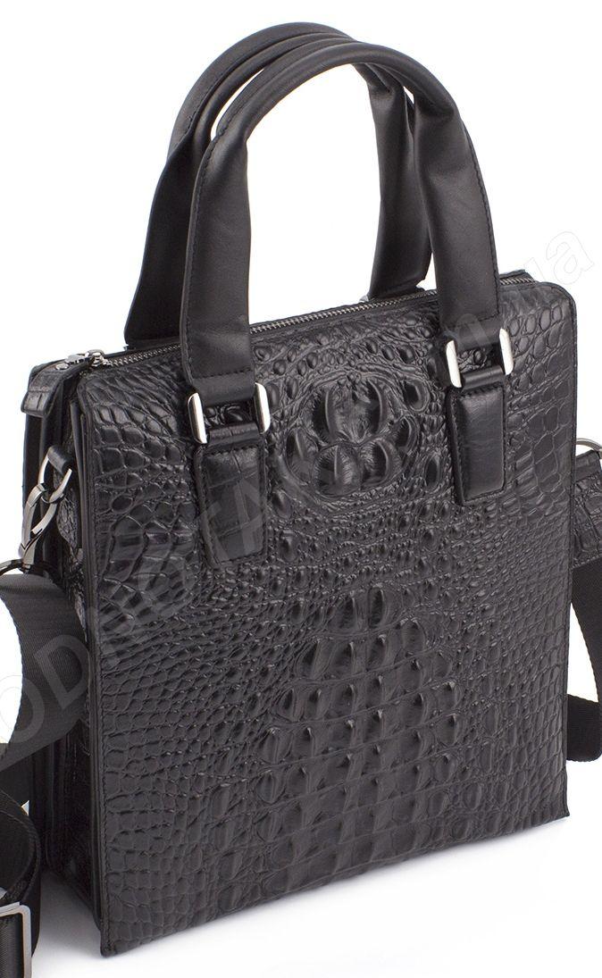 bf2346953171 Мужская элитная кожаная сумка с фактурой крокодила (деловой стиль под А4) H.T  Leather (
