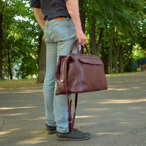 4f0409addb89 Кожаная дорожная сумка саквояж темно-синего цвета фирмы SB1995 ...
