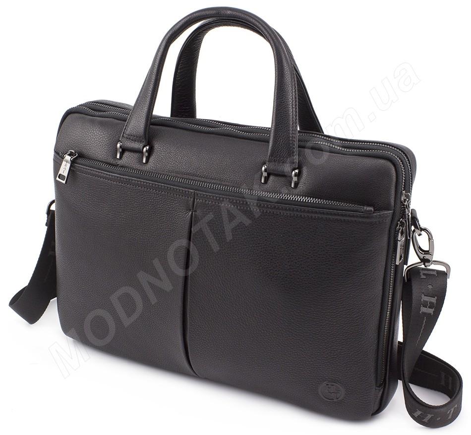 054801962bdf Деловая кожаная мужская сумка формата А4 (вмещает ноутбук) H.T Leather  (10322)
