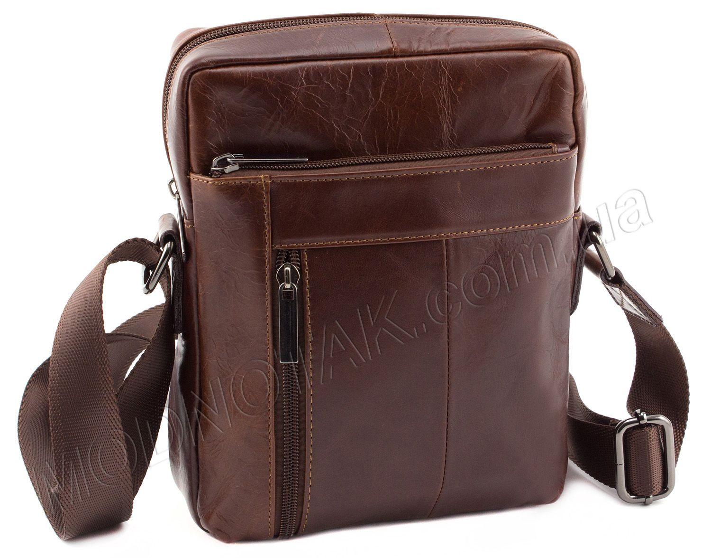 d78eb184f45d Красивая кожаная мужская сумка без названия и логотипов Leather Collection  (10371)