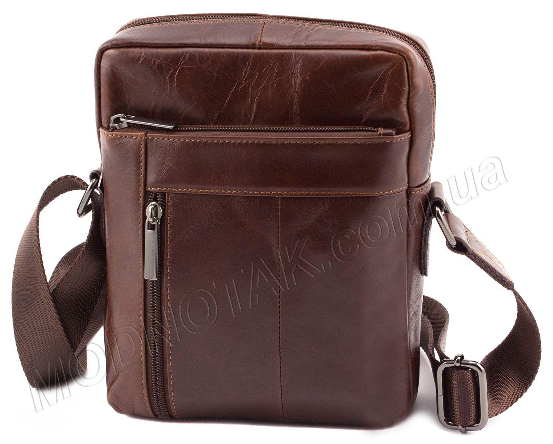 192db469ff0a Красивая кожаная мужская сумка без названия и логотипов Leather Collection  (10371)