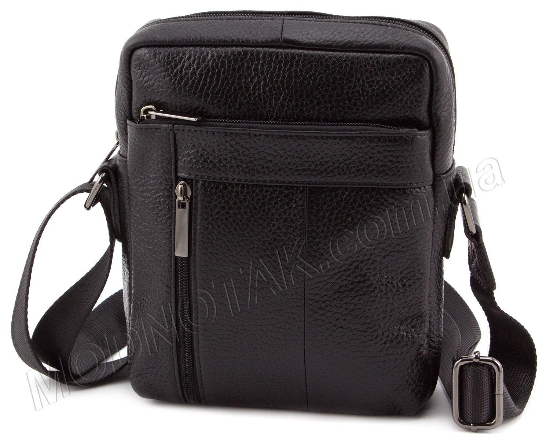 94a0b6b6072b Кожаная мужская сумка без надписей и логотипов Leather Collection (10372)