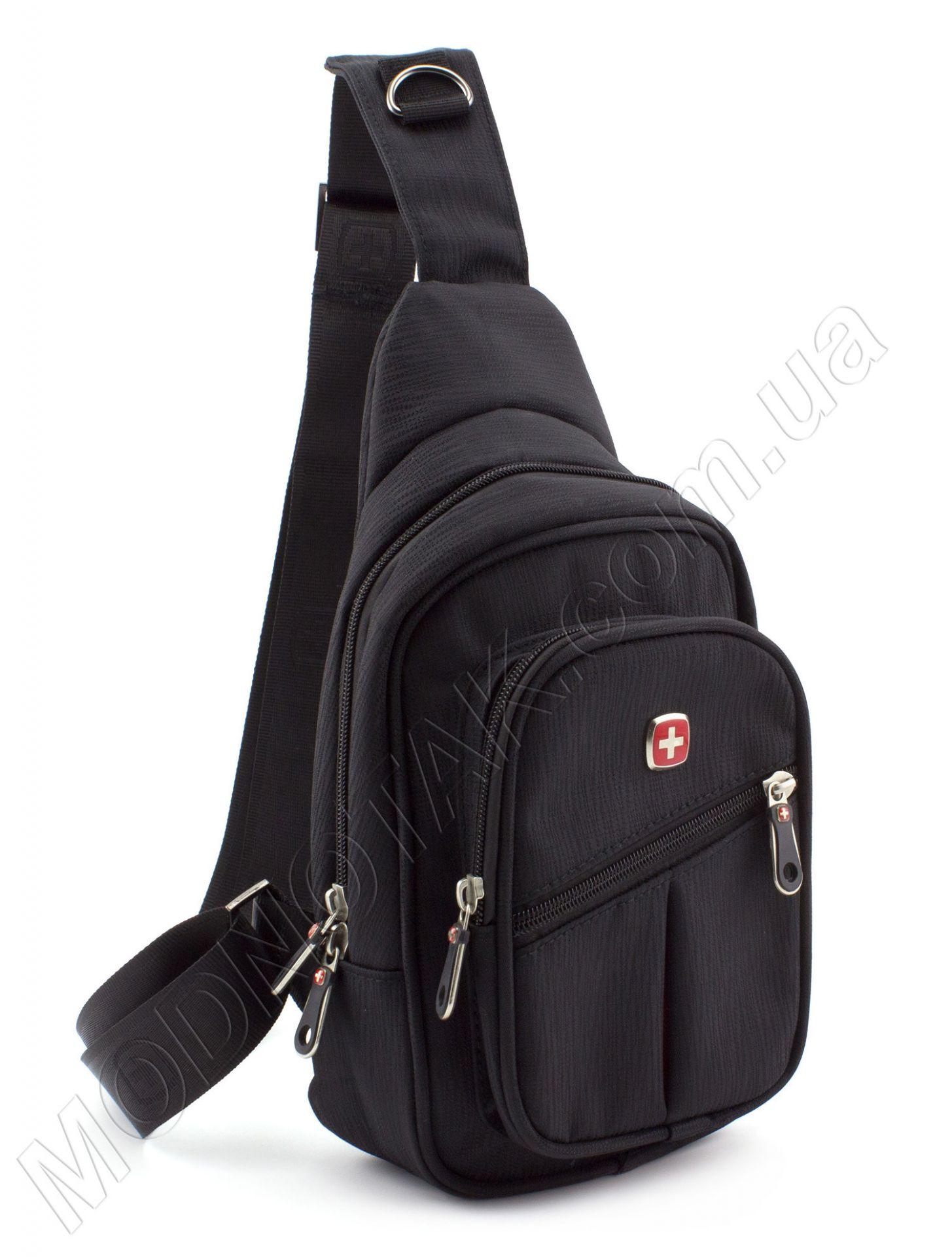 a512cc0d6f72 Недорогая сумка через плечо из ткани черного цвета SWISSGEAR: купить ...